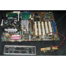 Материнская плата Asus P4PE (FireWire) с процессором Intel Pentium-4 2.4GHz s.478 и памятью 768Mb DDR1 Б/У (Чехов)